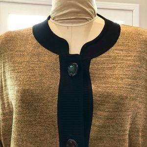 Misook golden taupe & black blazer 2X